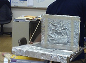 Solar oven in Washington Middle School's Pitch It Fest